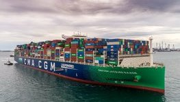 Presentation ceremony of the new CMA CGM Group flagship, the 'Jacques (...)